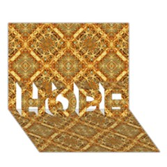 Luxury Check Ornate Pattern Hope 3d Greeting Card (7x5)  by dflcprints