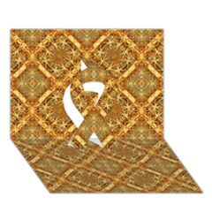 Luxury Check Ornate Pattern Ribbon 3d Greeting Card (7x5)  by dflcprints