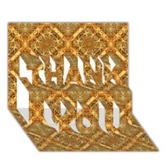 Luxury Check Ornate Pattern Thank You 3d Greeting Card (7x5)  by dflcprints