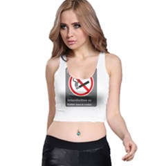 No Smoking  Racer Back Crop Top