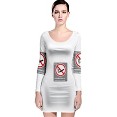 No Smoking  Long Sleeve Bodycon Dress