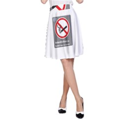 No Smoking  A-Line Skirt by MRTACPANS
