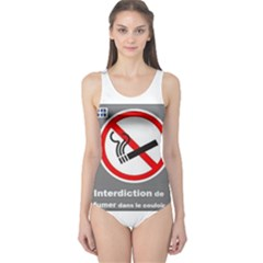 No Smoking  One Piece Swimsuit