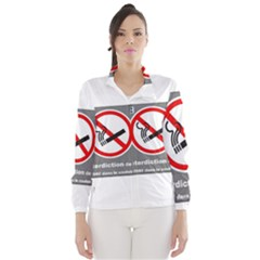 No Smoking  Wind Breaker (women)