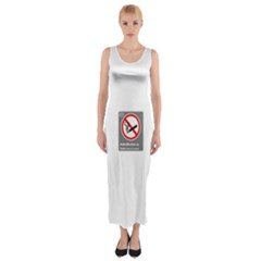 No Smoking  Fitted Maxi Dress