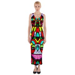 Upside Down Fitted Maxi Dress