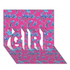 Floral Collage Revival Girl 3d Greeting Card (7x5)  by dflcprints