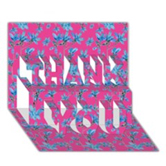 Floral Collage Revival Thank You 3d Greeting Card (7x5)  by dflcprints