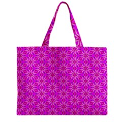Pink Snowflakes Spinning In Winter Mini Tote Bag by DianeClancy