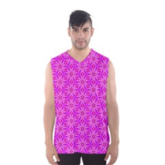 Pink Snowflakes Spinning In Winter Men s Basketball Tank Top by DianeClancy