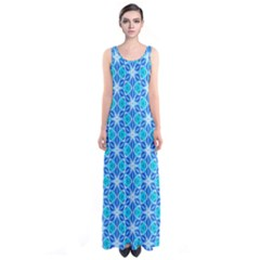 Aqua Hawaiian Stars Under A Night Sky Dance Full Print Maxi Dress by DianeClancy