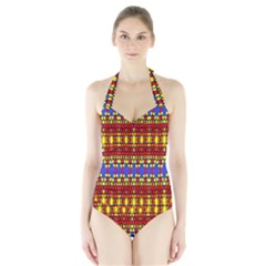 Egypt Women s Halter One Piece Swimsuit