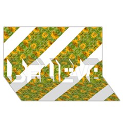 Indian Floral Pattern Stripes Believe 3d Greeting Card (8x4)  by dflcprints