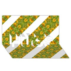 Indian Floral Pattern Stripes Hugs 3d Greeting Card (8x4)  by dflcprints