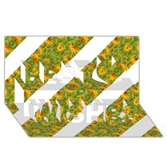 Indian Floral Pattern Stripes Best Wish 3d Greeting Card (8x4)  by dflcprints