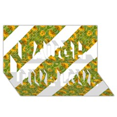 Indian Floral Pattern Stripes Laugh Live Love 3d Greeting Card (8x4)  by dflcprints