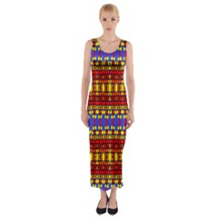 Hexagon Pilot Fitted Maxi Dress by MRTACPANS