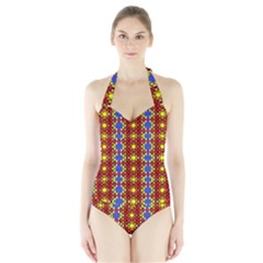 Star Ship Go Women s Halter One Piece Swimsuit