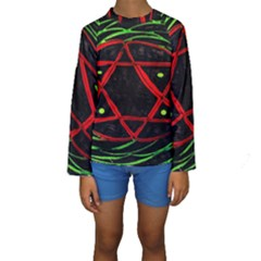 Universe Base Star Kid s Long Sleeve Swimwear