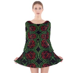 Jupiter Guide Long Sleeve Velvet Skater Dress