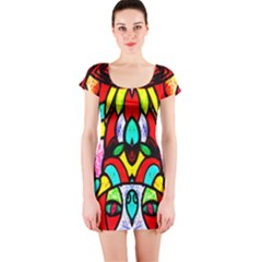 Sun Star Short Sleeve Bodycon Dress