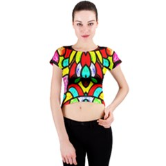 Bi Polar Sun Crew Neck Crop Top