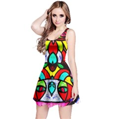 Bi Polar Sun Reversible Sleeveless Dress