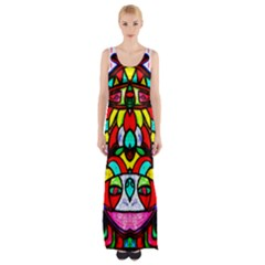 Bi Polar Sun Maxi Thigh Split Dress