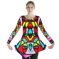 Bi Polar Sun Long Sleeve Tunic