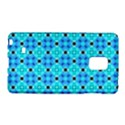 Vibrant Modern Abstract Lattice Aqua Blue Quilt Galaxy Note Edge View1