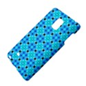 Vibrant Modern Abstract Lattice Aqua Blue Quilt Galaxy Note Edge View4