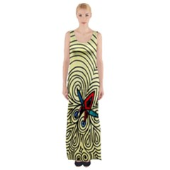 Bee Hive Maxi Thigh Split Dress by MRTACPANS
