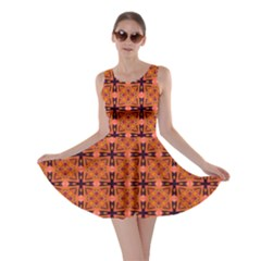 Peach Purple Abstract Moroccan Lattice Quilt Skater Dress by DianeClancy