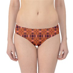 Peach Purple Abstract Moroccan Lattice Quilt Hipster Bikini Bottoms by DianeClancy