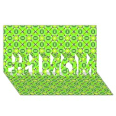 Vibrant Abstract Tropical Lime Foliage Lattice #1 Mom 3d Greeting Cards (8x4)  by DianeClancy