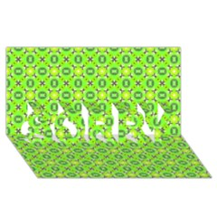 Vibrant Abstract Tropical Lime Foliage Lattice Sorry 3d Greeting Card (8x4)  by DianeClancy