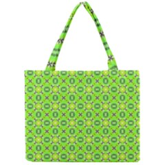 Vibrant Abstract Tropical Lime Foliage Lattice Mini Tote Bag by DianeClancy
