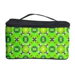 Vibrant Abstract Tropical Lime Foliage Lattice Cosmetic Storage Cases by DianeClancy