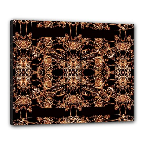 Dark Ornate Abstract  Pattern Canvas 20  X 16  by dflcprints