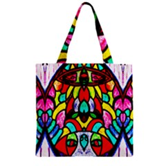 Sun Dial Zipper Grocery Tote Bag