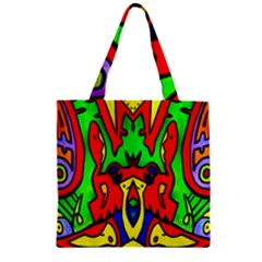 Heads Up Zipper Grocery Tote Bag by MRTACPANS