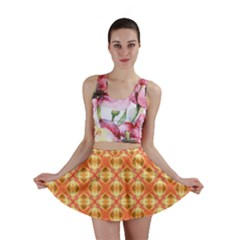 Peach Pineapple Abstract Circles Arches Mini Skirts by DianeClancy