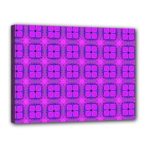Abstract Dancing Diamonds Purple Violet Canvas 16  X 12  by DianeClancy
