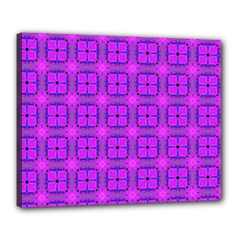 Abstract Dancing Diamonds Purple Violet Canvas 20  X 16  by DianeClancy