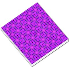 Abstract Dancing Diamonds Purple Violet Small Memo Pads by DianeClancy