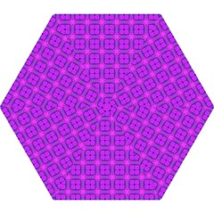 Abstract Dancing Diamonds Purple Violet Mini Folding Umbrellas by DianeClancy