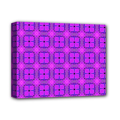 Abstract Dancing Diamonds Purple Violet Deluxe Canvas 14  X 11  by DianeClancy