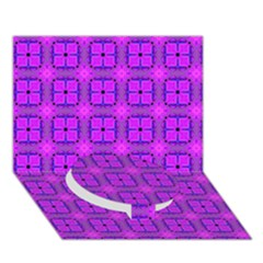 Abstract Dancing Diamonds Purple Violet Circle Bottom 3d Greeting Card (7x5)  by DianeClancy