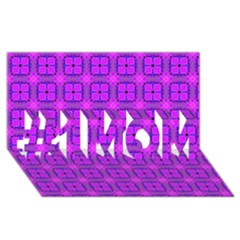 Abstract Dancing Diamonds Purple Violet #1 Mom 3d Greeting Cards (8x4)