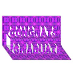 Abstract Dancing Diamonds Purple Violet Congrats Graduate 3d Greeting Card (8x4)  by DianeClancy